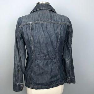 GAP Jackets & Coats - Gap Limited Ed Distressed Chambray Utility Jacket
